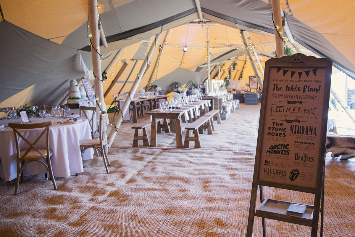 Amazing Tipis Seating